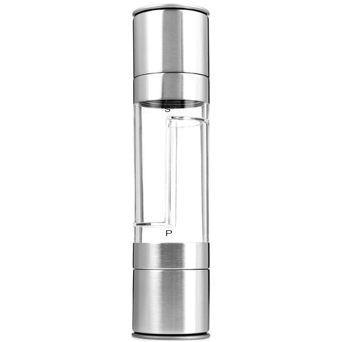 2 In 1 Stainless Steel Manual Pepper Salt Spice Mill Grinder