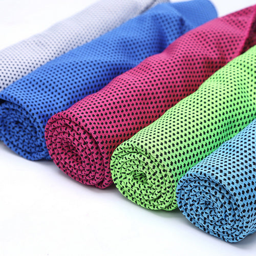 Sports Cooling Thermo Towels, as Heat and Sweat Stress Reducer - 40 x 12 inches