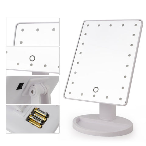 Vanity Makeup Mirror 22 LED Lights with Touch Sensor 180 Rotating