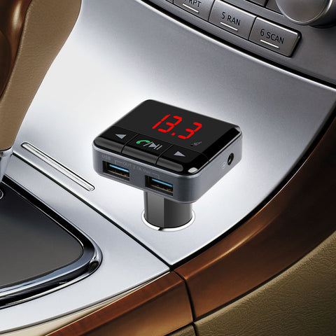 iSunnao Bluetooth 4.1 FM Transmitter Car Kit - MP3 Player with App