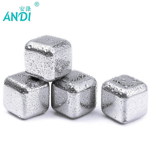 Stainless steel Stones ice cooler for Whiskey beer - 5 pcs/lot