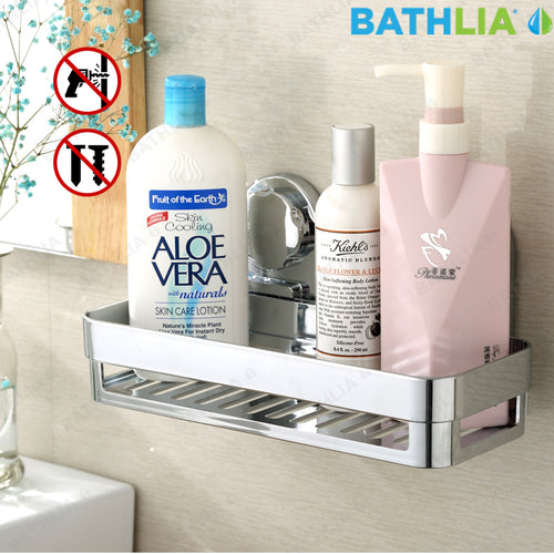 Bathroom Shelf Shampoo Holder Shower Caddy Storage Rack with Suction Cup