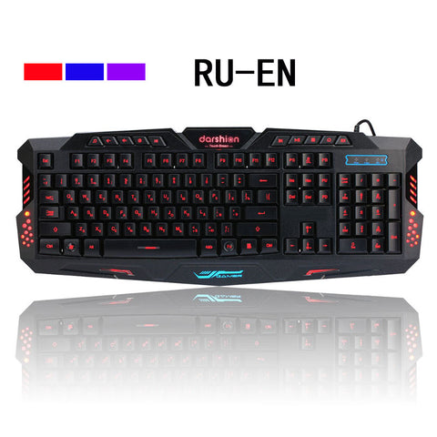 Wired Gaming USB Wired Keyboards with LED Backlit 3-Color Breathing Waterproof for PC / Computer