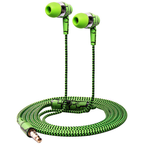 Cloth Rope Earpiece Earphone with Stereo Bass and Microphone