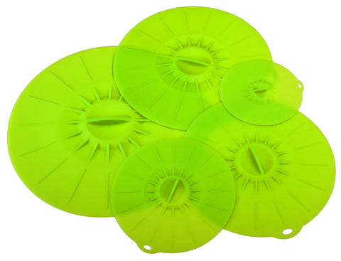 Silicone Reusable Suction Lids Pack of 6 - top Quality for Cookware Tupperware