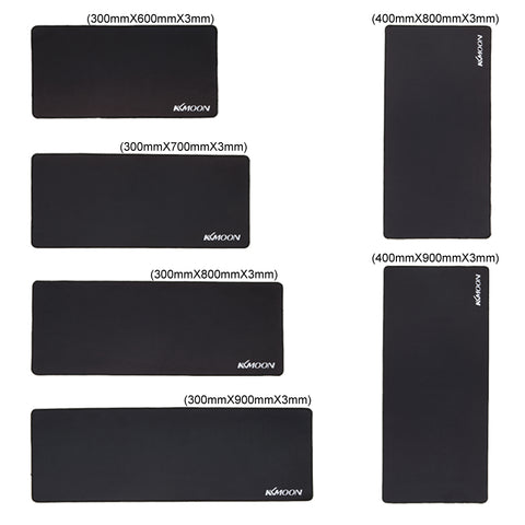 Large Size Plain Extended Water-Resistant Anti-slip Natural Rubber Gaming Mousepad