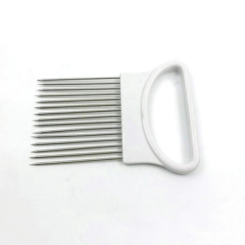 Stainless Steel Slicer Holder for Onion Tomato Fruit and More