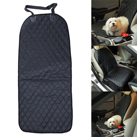 Pet Front Seat Cover for Cars, WaterProof & Nonslip Rubber Backing with Anchors, Quilted, Padded, Durable