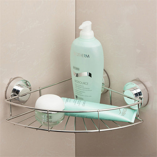 Stainless Steel Bathroom Shelf Shower Caddy with Suction Cups Rustproof Triangular Basket Bathroom Organizer Storage