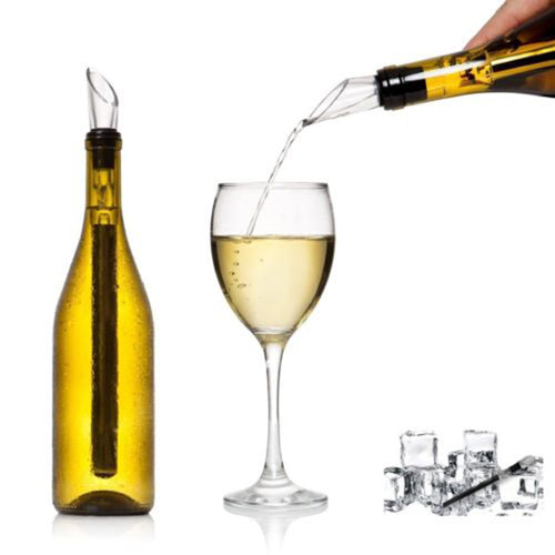 Stainless Steel Ice Wine Chiller Stick With Wine Pourer