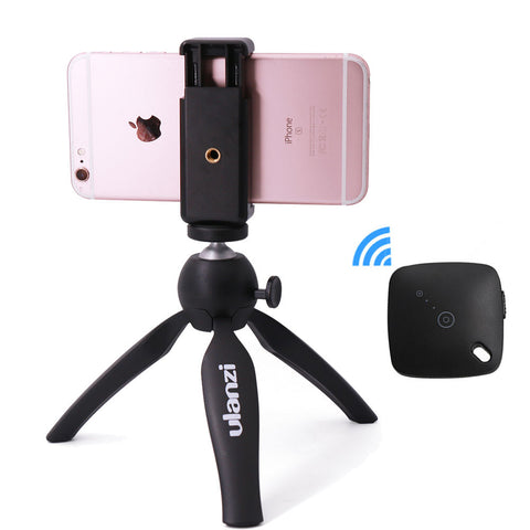 Ulanzi mini Tripod with Holder Mount / Selfie Portable Camera Tabletop Travel Tripod for iPhone 7 Plus Sony Samsung Mobile Phone