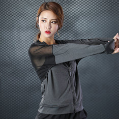 Zipper Sport Jacket For Yoga Running And Gym