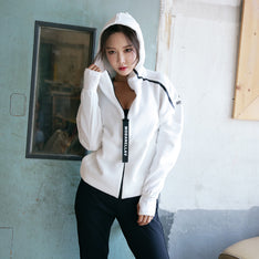 Workout And Fitness Hooded Jacket