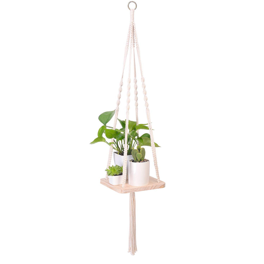 Ins Northern Macrame Plant Hanger 100 Cotton Rope Macrame Shelf