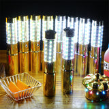 Colorful LED Flash Light Glow Strobe Stick Bottle Torch