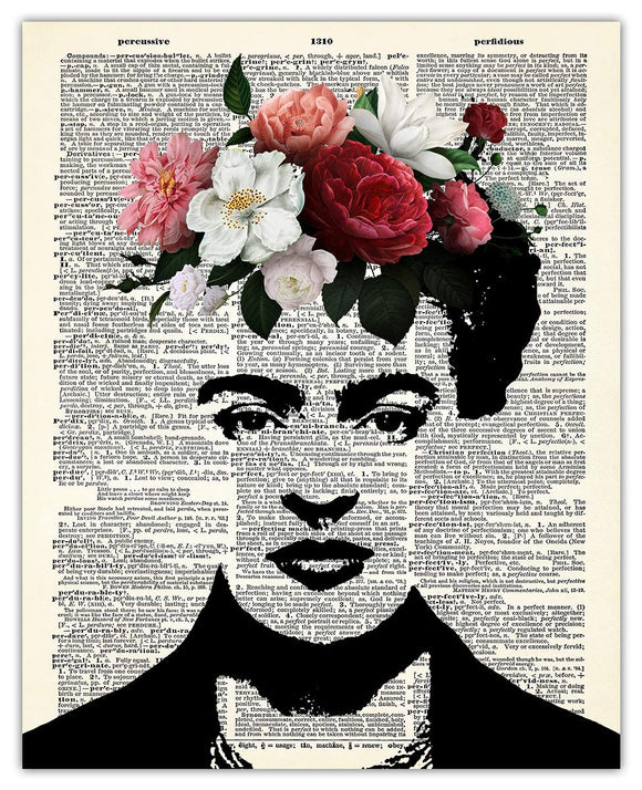 Frida Kahlo Dictionary Wall Art Print - (8x10) Unframed Picture For Home, Office, Dorm & Bedroom Decor - Great Gift Idea Under $15