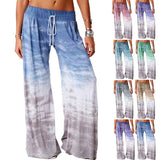 Women Casual Loose Gradient Tie-dye Printed Running Pants Fashion Comfortable Sport Long Harem Wide Leg Fashion Loose Trousers