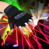 High quality 4pcs laser gloves green / purple / red nightclub bar party dance singer dance props DJ mechanical gloves LED light