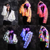 LED clothes winter Christmas wool couples luminous fluorescent suit holiday annual meeting casual jacket CD50 W02