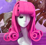 Cartoon Latex Rubber Curly Head Wig (4 Colors)