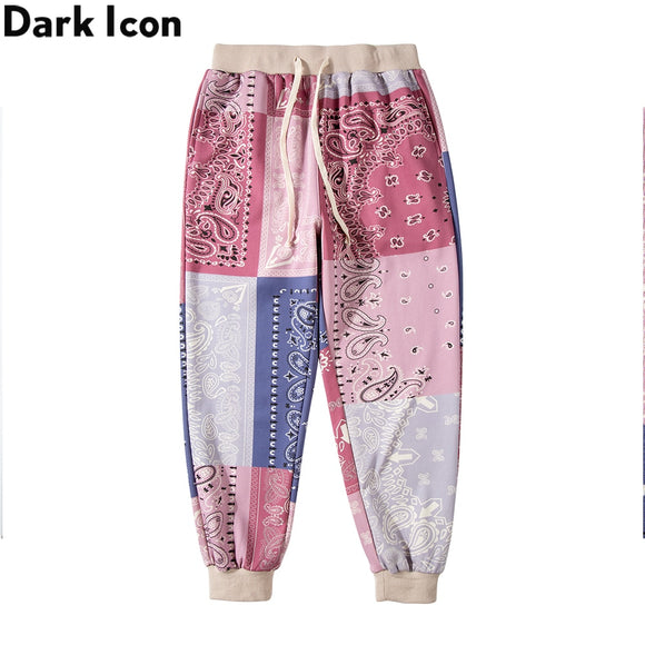 Dark Icon Bandana Sweatpants Men Women Street Dance Men's Harem Pants Jogging Trousers 2 Colors