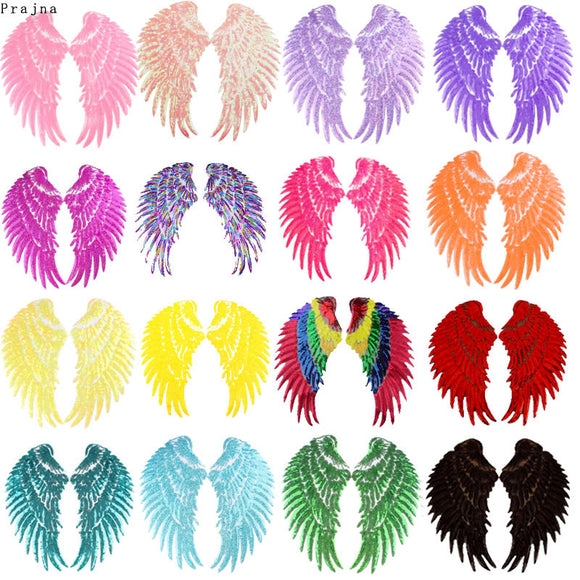 Sequin Embroidered Adhesive Wings Patch