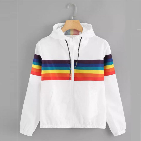 Rainbow Pride Hoodie Sport Windbreaker Pullover Jacket Sweatshirt Long Sleeve Hooded Jackets Autumn Zip Up Tracksuit