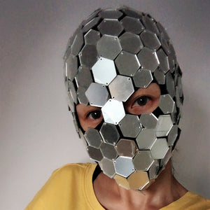 Silver Mirror Full Head Face Mask