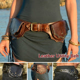Medieval Pouch Bag Belt Leather Saddle Wallet Men Women Steampunk Viking Pirate Costume Antique Gear Accessory Cosplay For Adult