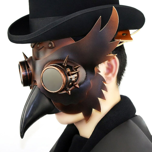 Cosmask Halloween Plague Bird Mask Real Adult Party Costume Horror Mask Steampunk Plague Bird Mask Stage Show Cosplay