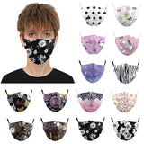 1pc Dustproof Foggy Haze Pm2.5 With Gasket Face Filter face maskswashable and reusable cotton face cover filter faceshield msake
