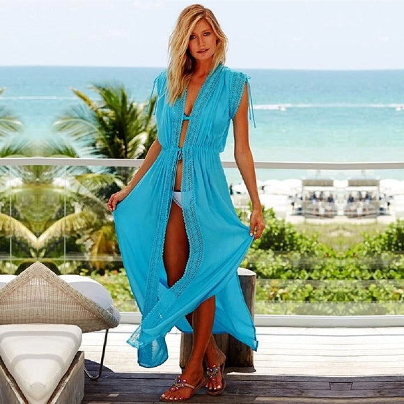 Cotton Beach Cover up Kaftans Sarong Bathing Suit Cover ups Beach Pareos Swimsuit Cover up Womens Swim Wear Beach Tunic #Q494