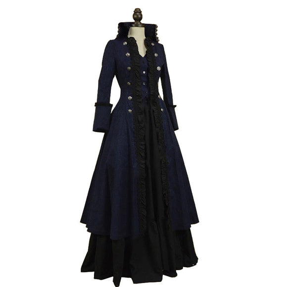 Renaissance Women Vintage Gothic Gown Robe Palace Princess Dress Cosplay Costume Queen Vintage Halloween Carnival Party