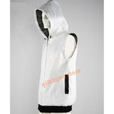Men's LED Fiber Optic Light up 7 Colors Full-Zip Hoodie for Party Music Festival