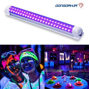 DJ Disco Light 10W Stage Light DJ UV Purple led tube For Party Christmas Bar Lamp Laser Stage Wall Washer Spot Light Backlight
