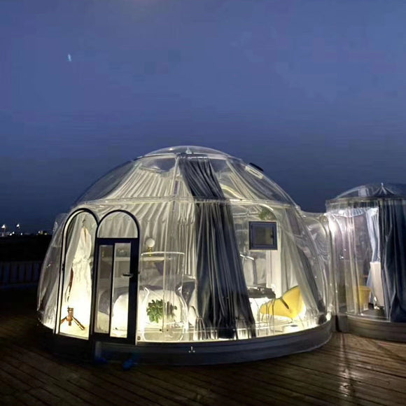 Starry Bubble House Camping Transparent Tent Hotel Outdoor Dining B&B