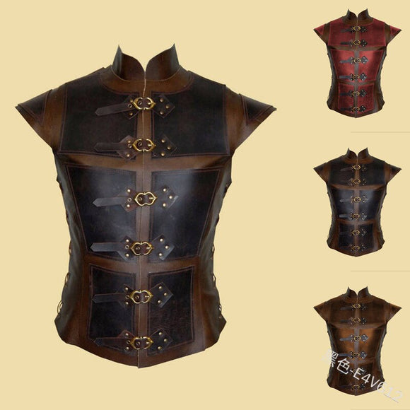 Armor Vest Vintage Medieval Steampunk Chest Guard Viking Warrior Cosplay Knight Costume Larp Breastplate Gear For Men Women Plus