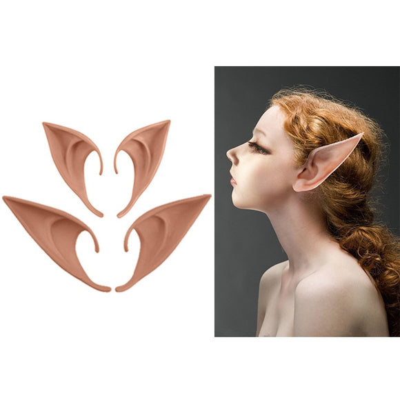 1Pair Angel Elf Ears fairy Cos Mask Cosplay Accessories Latex Soft Prosthetic False Ear Halloween Party Masks