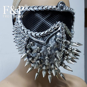 Burning Man Festival Spike Steampunk Mask Carnival Costume Gogo Dancer Halloween Accessories