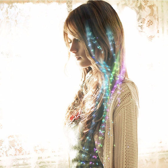 Colorful Luminous LED Hair Strand (2 pcs)