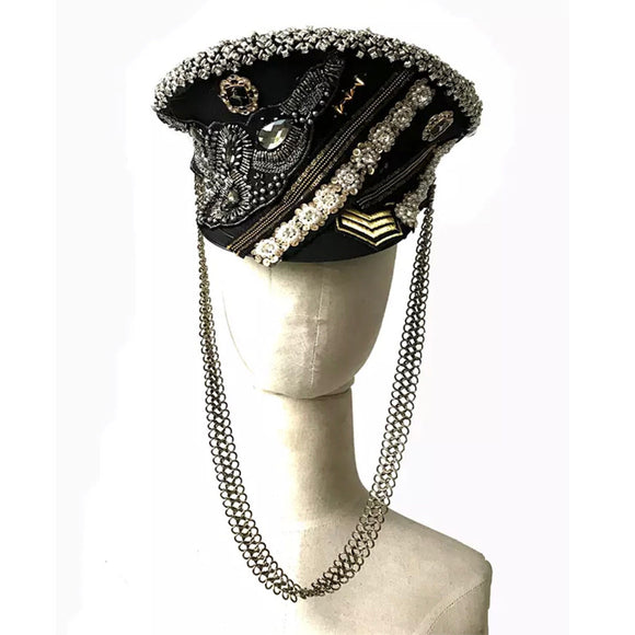 Custom uniform party punk handsome hat headwear bar hyperbole stage performance catwalk accessories