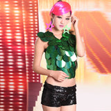 Big Sequin Dance Costume For Women Sexy Sparkling Pant Nightclub GoGo Dance Bar DS DJ Leading Dancer Rave Clothes VDB019