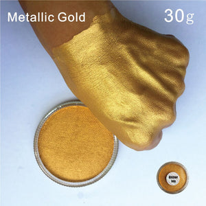 FPPG  30g/pc Water Based Metallic Gold Face Body Paint Pigment  in Festival Party Fancy Dress Beauty Makeup Tool