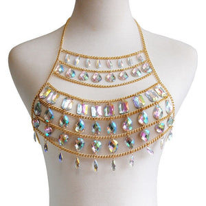 Crystal Goddess Bejeweled Top and Belt