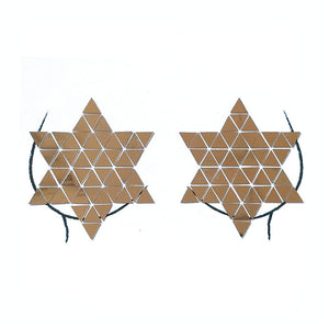Triangle Mirror Star Pasties (Silver/Gold)