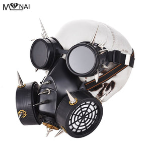 Unisex Fancy Party Rivet Masks Retro Goggle Glasses Industrial Spikes Gear Mask Vintage Steampunk Gothic Masks