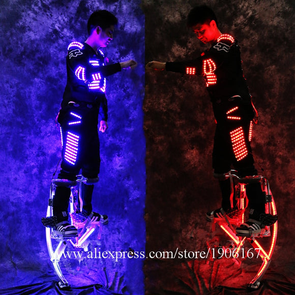 LED Stilts and Luminous Robot Suit
