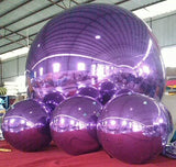 Inflatable Mirror Surface Ball Disco Mirror Ball Light Mirror Reflection Stage Festival Hanging Balloon 1m