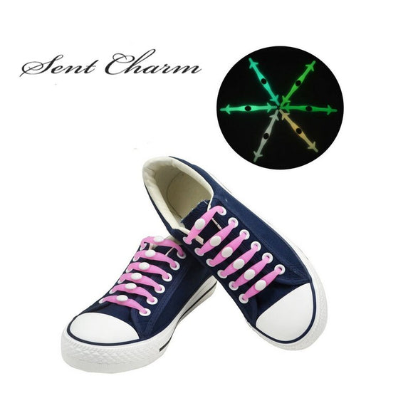 Glow in the Dark Rubber Tieless Shoelaces