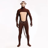 High Quality Adult/Children Mens/Womens Halloween Monkey Pattern Cosplay Costumes Lycra Zentai Animal Costume Full Body Suit